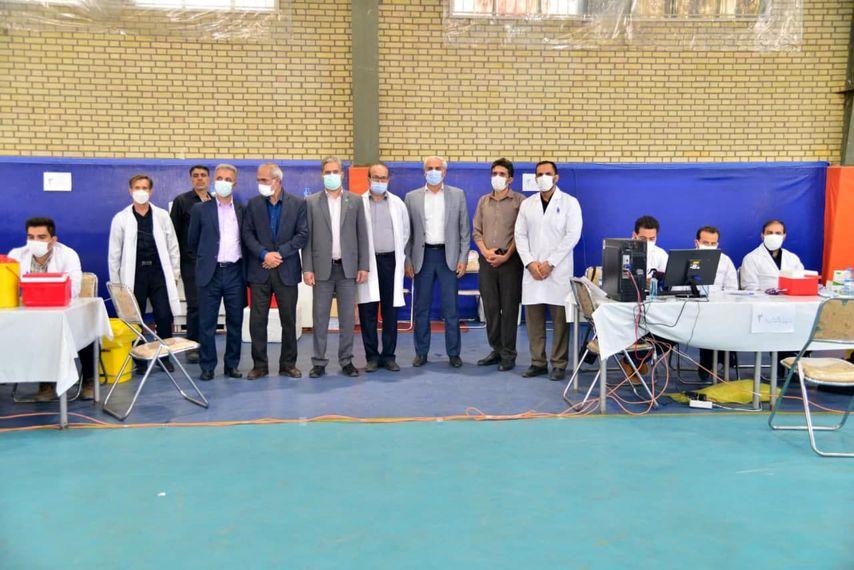 واکسیناسیون عمومی کووید ۱۹( کرونا) کارگران وکارکنان شرکت آلومینیوم ایران ( ایرالکو ) آغاز گردید