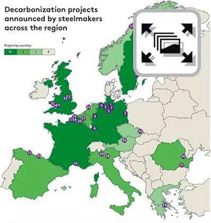 توسعه نقاط دسترسی به فولاد سبز در سراسر اروپا