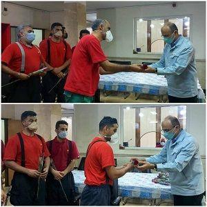 تقدیر از آتشنشانان شرکت فولاد خوزستان